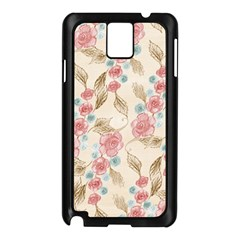 Background Page Template Floral Samsung Galaxy Note 3 N9005 Case (black)