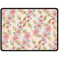 Background Page Template Floral Double Sided Fleece Blanket (large)