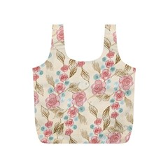 Background Page Template Floral Full Print Recycle Bags (s)
