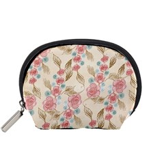 Background Page Template Floral Accessory Pouches (small)