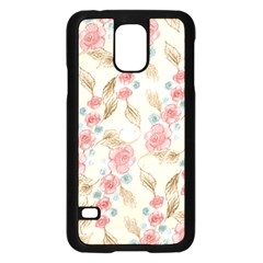 Background Page Template Floral Samsung Galaxy S5 Case (black)
