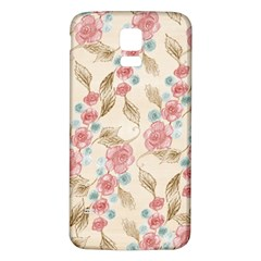 Background Page Template Floral Samsung Galaxy S5 Back Case (white)
