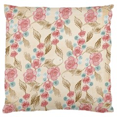 Background Page Template Floral Large Flano Cushion Case (one Side)