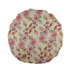 Background Page Template Floral Standard 15  Premium Flano Round Cushions