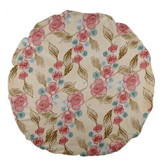 Background Page Template Floral Large 18  Premium Flano Round Cushions