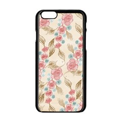 Background Page Template Floral Apple Iphone 6/6s Black Enamel Case