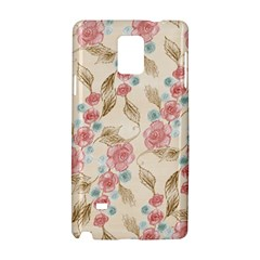Background Page Template Floral Samsung Galaxy Note 4 Hardshell Case