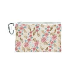 Background Page Template Floral Canvas Cosmetic Bag (s)