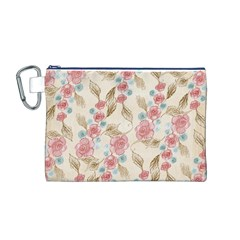 Background Page Template Floral Canvas Cosmetic Bag (m)