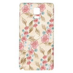 Background Page Template Floral Galaxy Note 4 Back Case