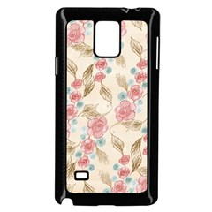 Background Page Template Floral Samsung Galaxy Note 4 Case (black)