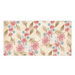 Background Page Template Floral Satin Shawl