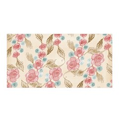 Background Page Template Floral Satin Wrap