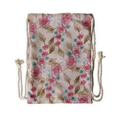 Background Page Template Floral Drawstring Bag (small)