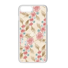 Background Page Template Floral Apple Iphone 7 Plus White Seamless Case
