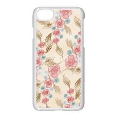 Background Page Template Floral Apple Iphone 7 Seamless Case (white)