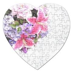 Background Grunge Rustic Green Jigsaw Puzzle (heart)