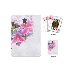 Background Grunge Rustic Green Playing Cards (mini)
