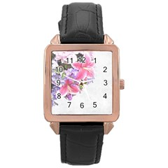 Background Grunge Rustic Green Rose Gold Leather Watch