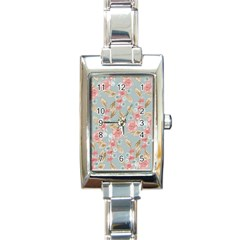 Background Page Template Floral Rectangle Italian Charm Watch