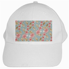Background Page Template Floral White Cap