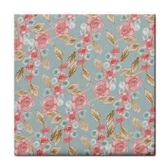 Background Page Template Floral Tile Coasters