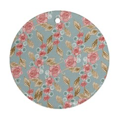 Background Page Template Floral Ornament (Round)
