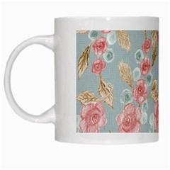 Background Page Template Floral White Mugs