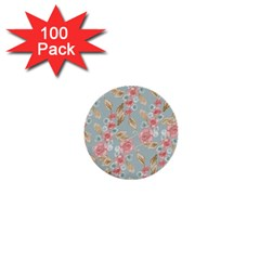 Background Page Template Floral 1  Mini Buttons (100 Pack)