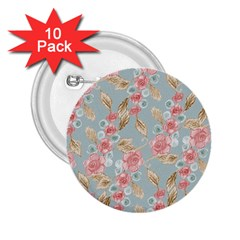 Background Page Template Floral 2 25  Buttons (10 Pack)