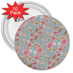 Background Page Template Floral 3  Buttons (10 Pack)