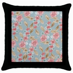 Background Page Template Floral Throw Pillow Case (black)