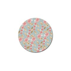 Background Page Template Floral Golf Ball Marker (10 Pack)