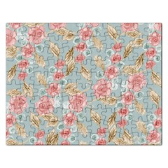 Background Page Template Floral Rectangular Jigsaw Puzzl