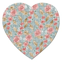 Background Page Template Floral Jigsaw Puzzle (heart)