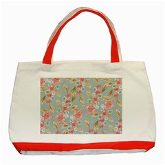 Background Page Template Floral Classic Tote Bag (red)