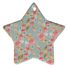 Background Page Template Floral Star Ornament (two Sides)