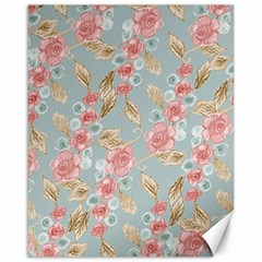 Background Page Template Floral Canvas 16  X 20
