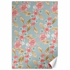 Background Page Template Floral Canvas 20  X 30