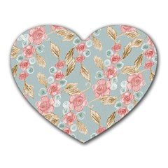 Background Page Template Floral Heart Mousepads