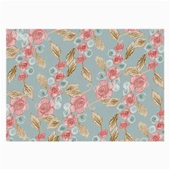 Background Page Template Floral Large Glasses Cloth (2 Side)