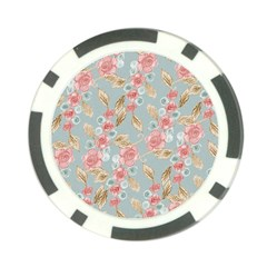 Background Page Template Floral Poker Chip Card Guards