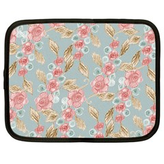 Background Page Template Floral Netbook Case (large)