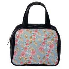 Background Page Template Floral Classic Handbags (one Side)
