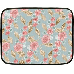 Background Page Template Floral Double Sided Fleece Blanket (mini)