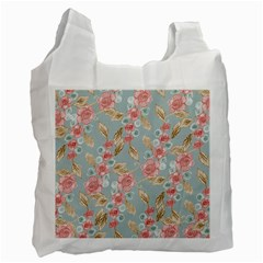 Background Page Template Floral Recycle Bag (one Side)