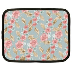 Background Page Template Floral Netbook Case (xxl)