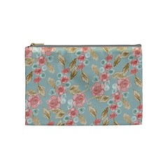 Background Page Template Floral Cosmetic Bag (medium)