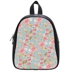 Background Page Template Floral School Bags (small)