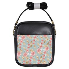 Background Page Template Floral Girls Sling Bags